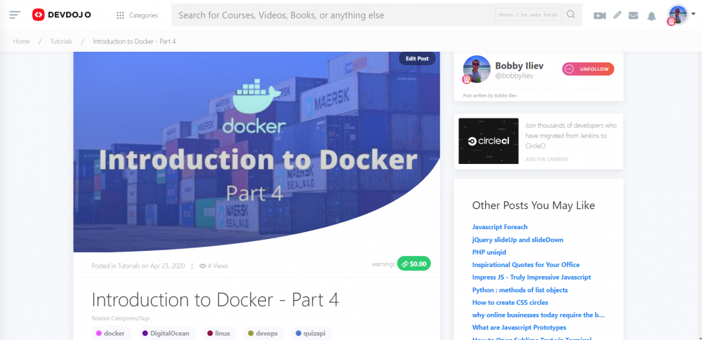 Introduction to Docker - Part 4