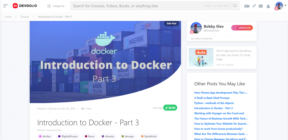 Introduction to Docker - Part 3