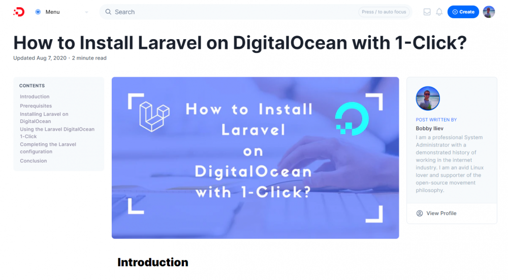 How to Install Laravel on DigitalOcean with 1-Click?