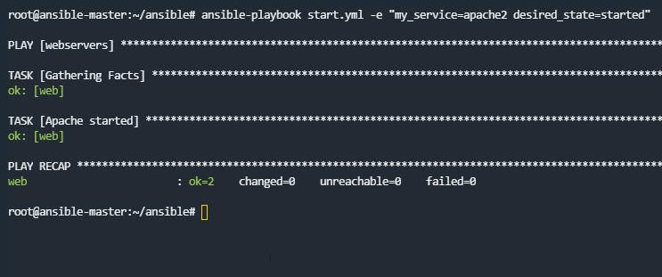 Ansible playbooks variables