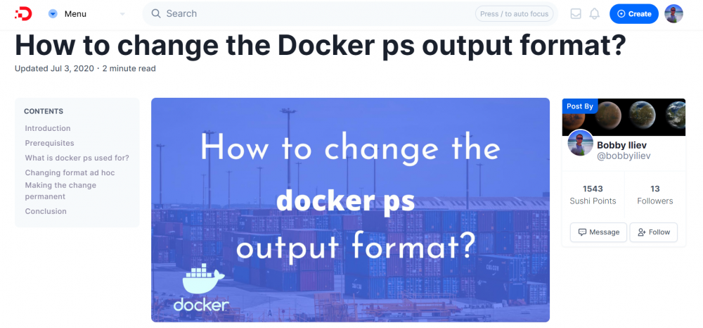 How to change the Docker ps output format?