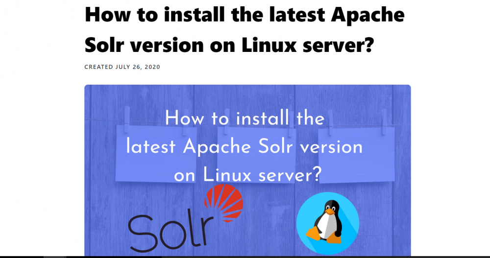 An Easy Way to Install Solr 6.x on a Linux Server