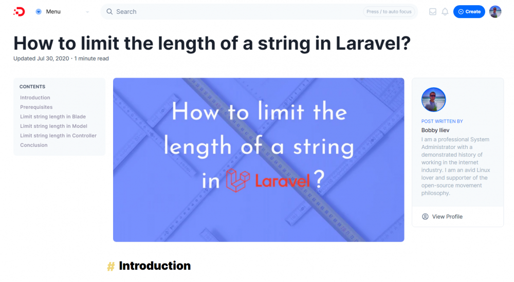 How to limit the length of a string in Laravel?
