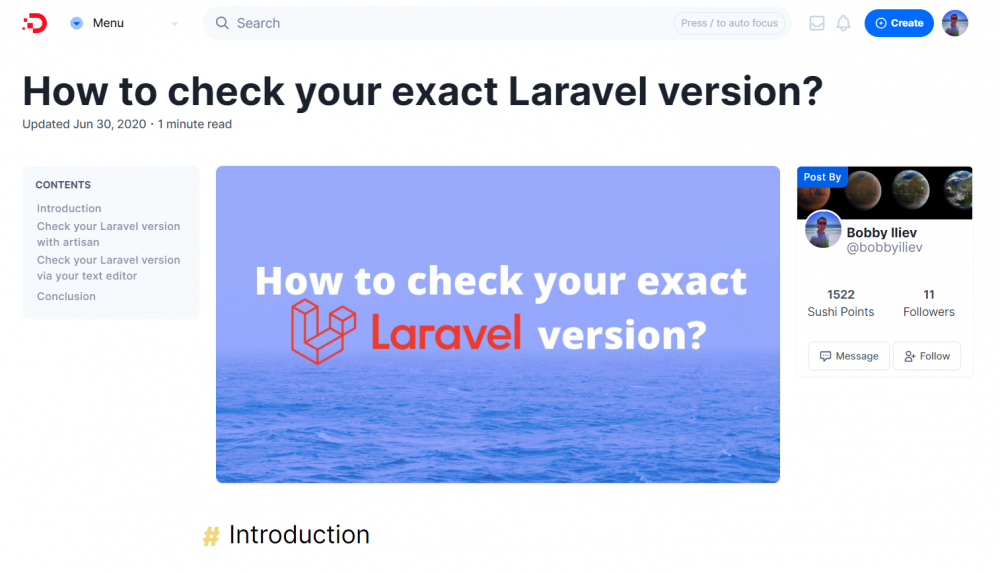 How to check your exact Laravel version?