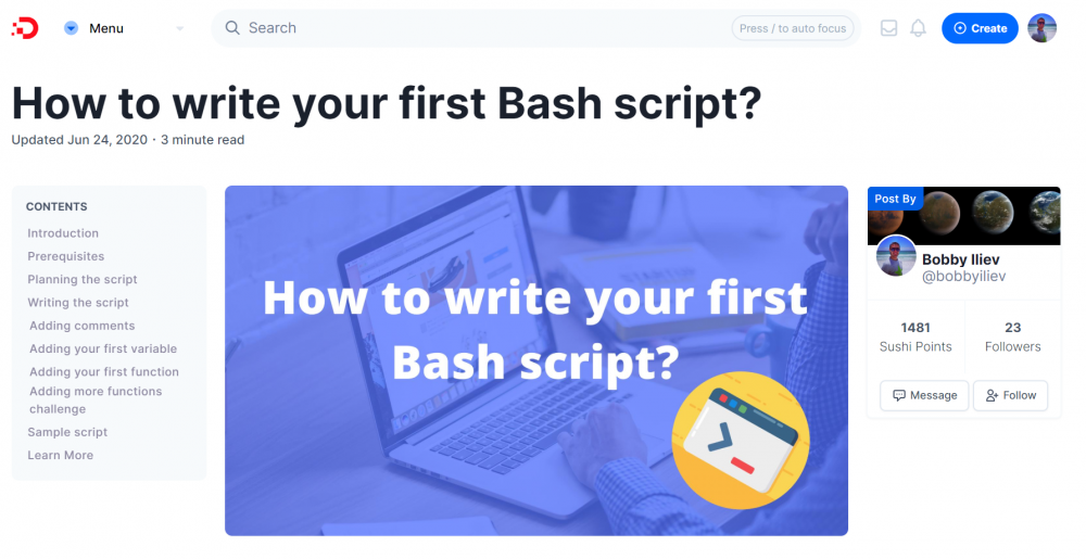 How to write your first Bash script?