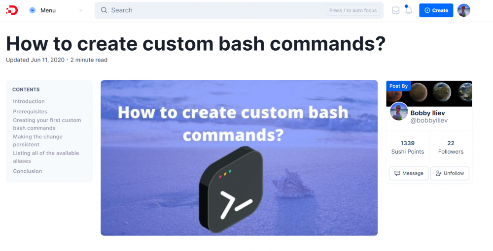 How to create custom bash commands?