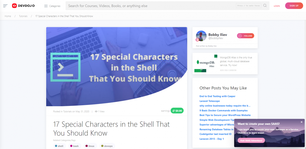 Linux - 17 Special Characters in the Shell That You Should Know