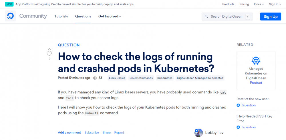 How to check the logs of running and crashed pods in Kubernetes?